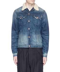 NSF | Adams Faux Shearling Collar Denim Jacket