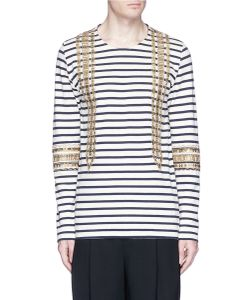Ports | Sailor Embellished Stripe Long Sleeve T-Shirt