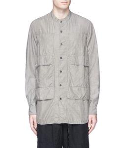 Ziggy Chen | Vest Overlay Cotton-Silk Shirt