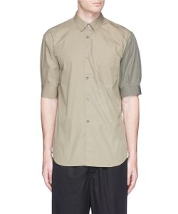 Comme Des Garçons | Contrast Sleeve Hopsack Shirt