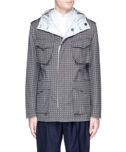 Wooster + Lardini | Reflective Dot Print Reversible Jacket