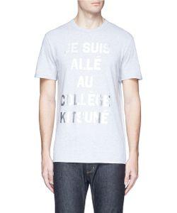 Maison Kitsuné | Slogan Print Cotton T-Shirt