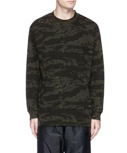 T by Alexander Wang   Camouflage Print Long Sleeve T-Shirt