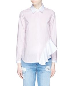 Sandy Liang | Gemini Ruffle Side Strip Poplin Shirt