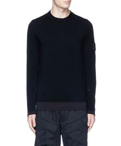 Stone Island | Ruched Sleeve Stretch Sweater