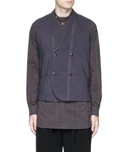 Uma Wang | Geremia Stitch Linen-Cotton Double Breasted Waistcoat