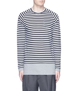 Wooster + Lardini | Contrast Underlay Stripe Long Sleeve T-Shirt
