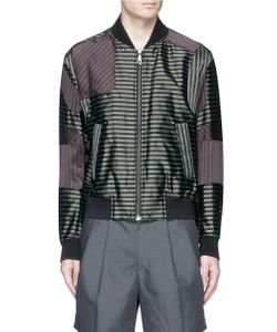 Wooyoungmi | Mix Stripe Panel Bomber Jacket