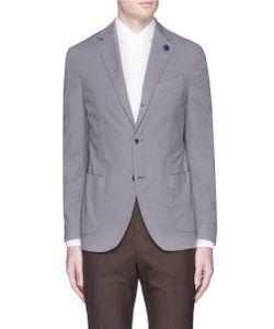 Lardini   Woven Cotton Soft Blazer