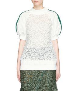 Sacai | Sateen Sleeve Guipure Lace Top