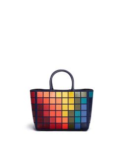 Anya Hindmarch | Ebury Small Giant Pixel Patchwork Suede Tote