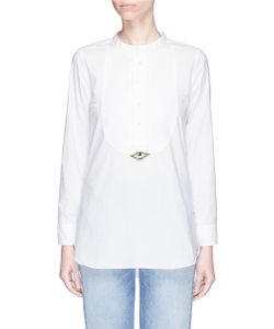 Figue | Evil Eye Tux Beaded Patch Cotton Shirt