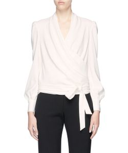Co | Belted Crepe Wrap Top
