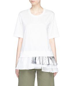 Muveil   Colourblock Pleated Hem T-Shirt