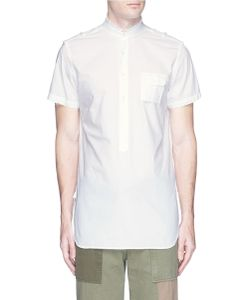 Wooster + Lardini | Mandarin Collar Stripe Dobby Shirt