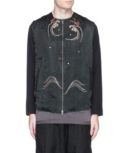 By Walid | Liam Dragon Embroidered Silk Jacket