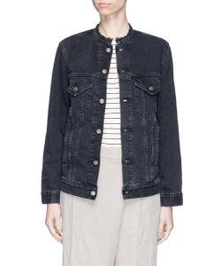 Bassike | Oversized Frayed Neck Denim Jacket
