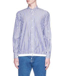 Sacai   Stripe Drawstring Hem Shirt