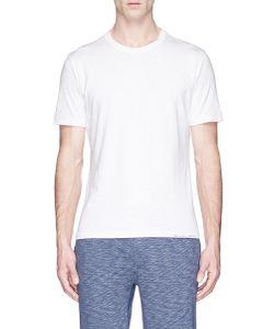 Alex Mill | Slogan Embroidered Slub Cotton T-Shirt