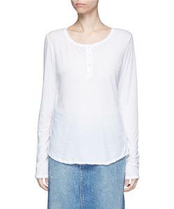 James Perse   Cotton Jersey Henley Shirt