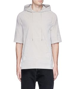Helmut Lang | Lace-Up Velveteen Hoodie