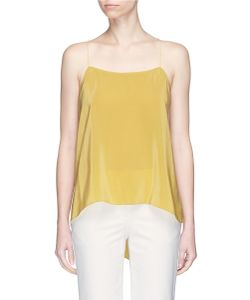 Theory | Vanissa Cross Back Silk Habotai Camisole