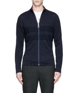 PS Paul Smith | Piqué Panel Cotton Zip Cardigan