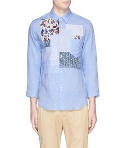 Comme Des Garçons Homme Plus | Paisley Patchwork Linen Hopsack Shirt