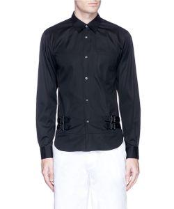 Comme Des Garçons | Double Buckle Strap Poplin Shirt