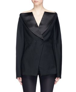 Dion Lee | Double-Breasted Off-Shoulder Wool Tuxedo Jacket