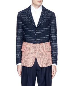 Wooster + Lardini | Summer Tweed Colourblock Soft Blazer