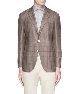 TOMORROWLAND   Check Silk-Cashmere Soft Blazer