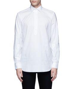 Ports | Half Placket Cotton Poplin Shirt