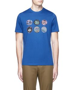 PS Paul Smith | Badges Print Organic Cotton T-Shirt