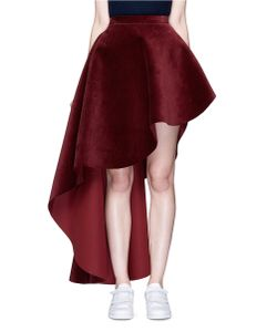 Xiao Li | Asymmetric Corduroy Flare Skirt