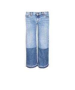 Simon Miller   Thomas Colourblock Patchwork Cuff Cropped Jeans