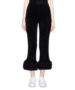 Xiao Li | Lusso Knotted Rib Knit Flare Pants