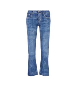 Current/Elliott | The Crossover Relaxed Fit Bandana Print Jeans