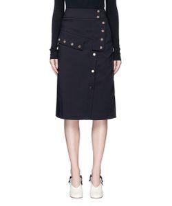 Tibi | Urban Stretch Snap Button Skirt