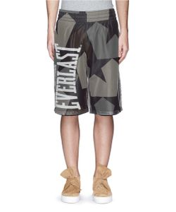 Ports | X Everlast Star Camo Print Mesh Overlay Shorts