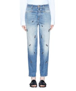 Closed   X Jupe By Jackie Embroidered Denim Pants