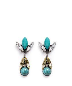 Anton Heunis | Swarovski Crystal Vintage Stone Cluster Drop Earrings