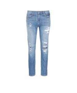 Current/Elliott | The Fling Studded Knee Distressed Jeans