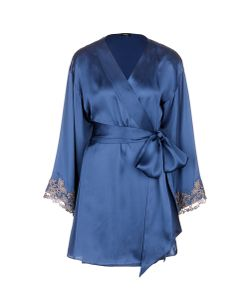 La Perla | Maison Floral Embroidered Silk Blend Robe