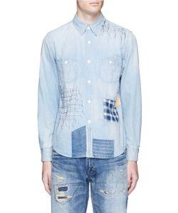 Fdmtl | Boro Patchwork Sashiko Stitch Denim Shirt