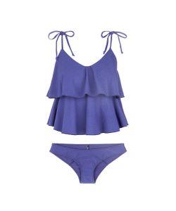 Lisa Marie Fernandez   Imaan Tie Ruffle Crepe Bikini Set