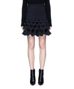 Dion Lee   Powerstretch Lory Cutout Ruffle Mini Skirt