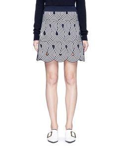 Victoria, Victoria Beckham | Swirl Stripe Cutout Rib Knit Skirt