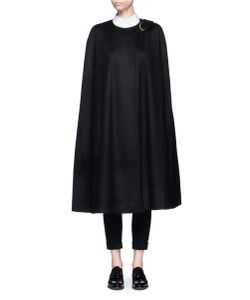 Co | Oversized Buckle Virgin Wool Cape
