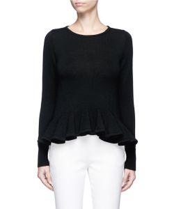 Co | Ruffle Hem Wool Sweater